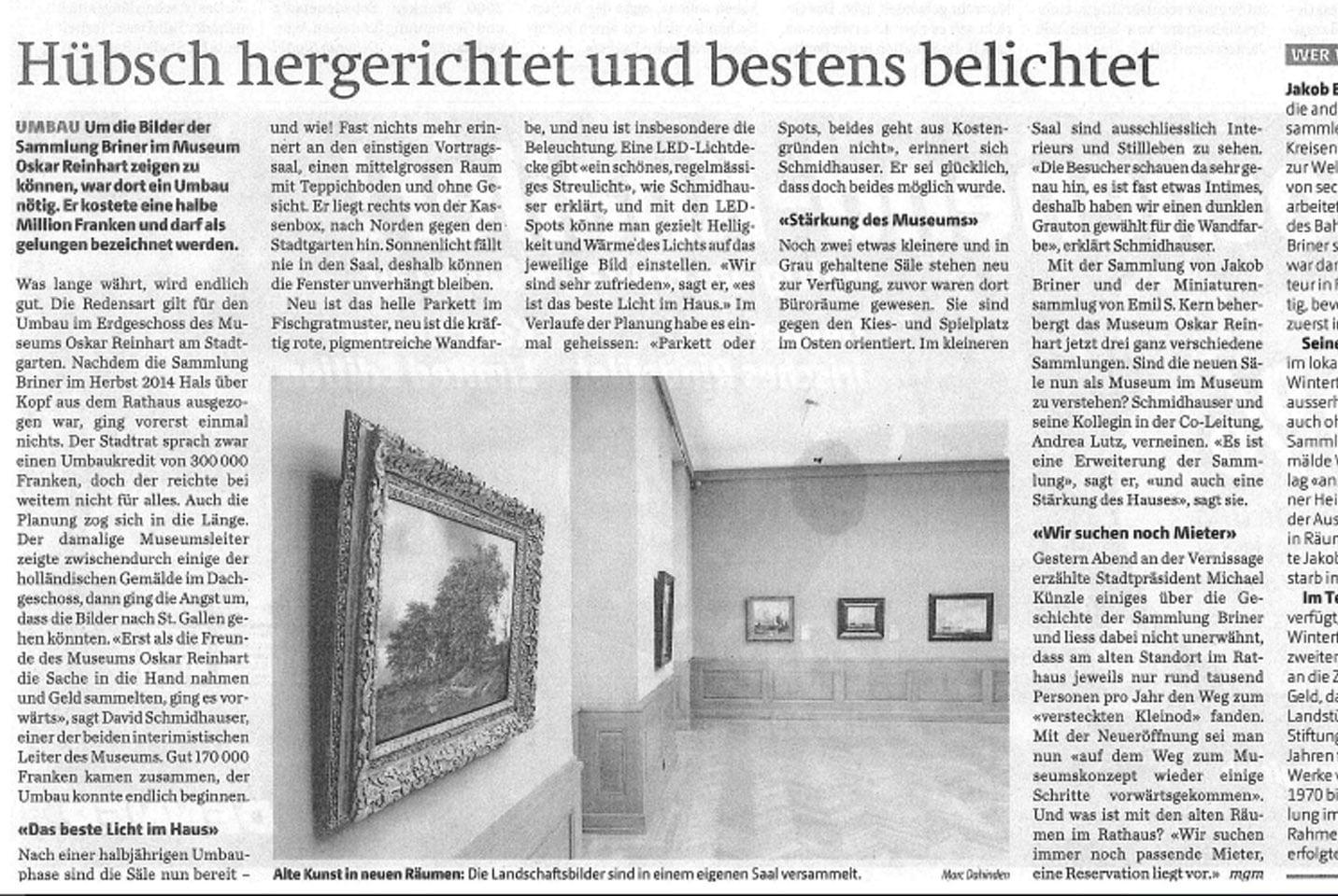 Museum Oskar Reinhart am Stadtgarten