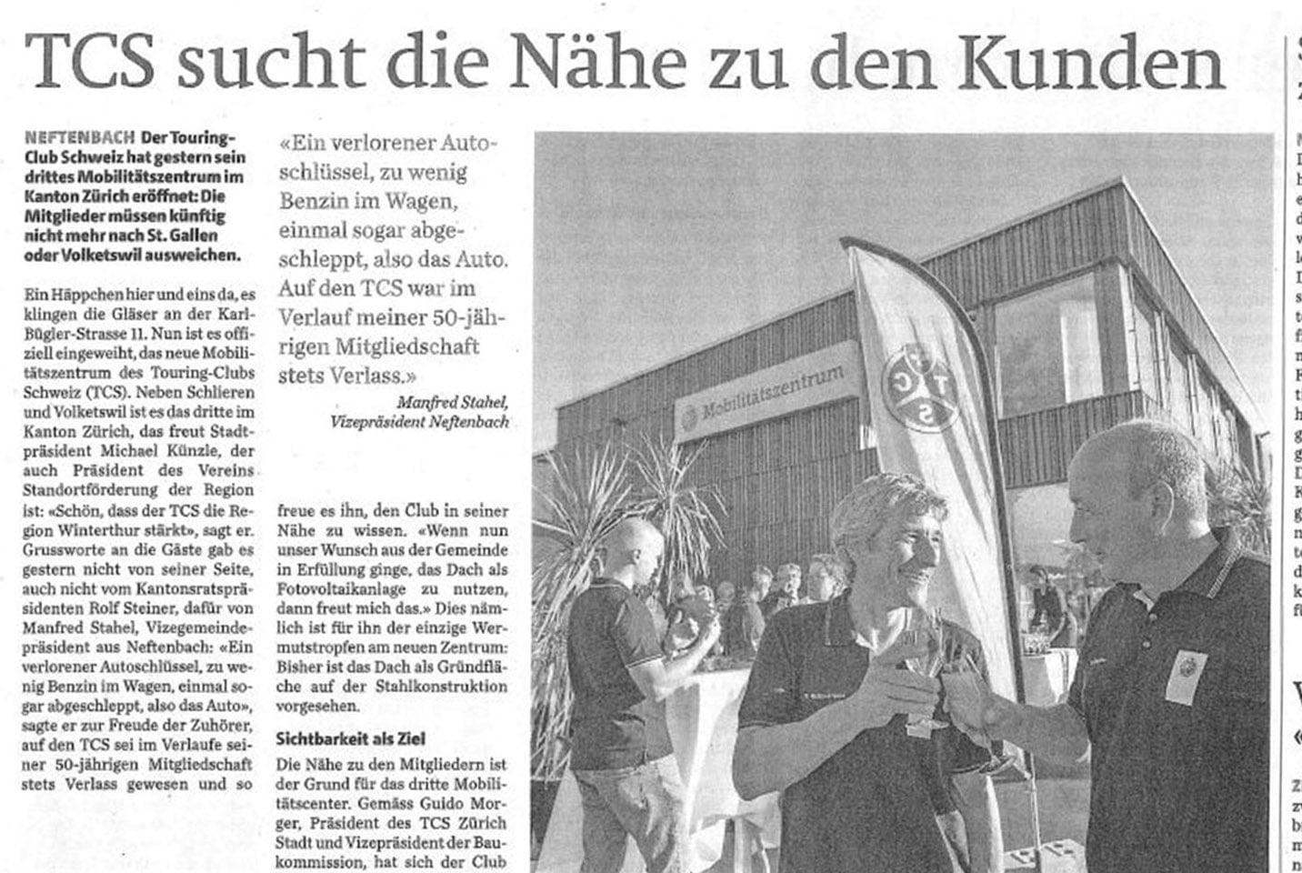 Neubau TCS-Zentrum Neftenbach